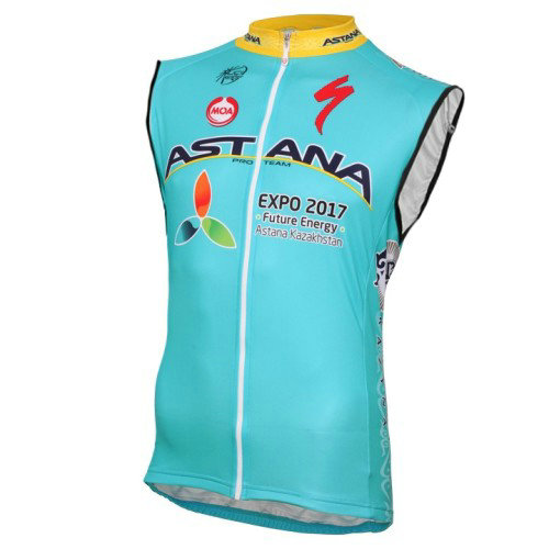 2017 Astana Equipe Pro Maillot Sans Manches