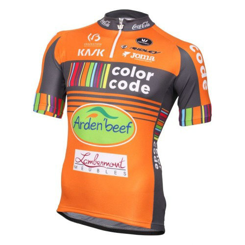 Maillot Cyclisme Manche Courte Color-Code Aquality Orange Protect 206