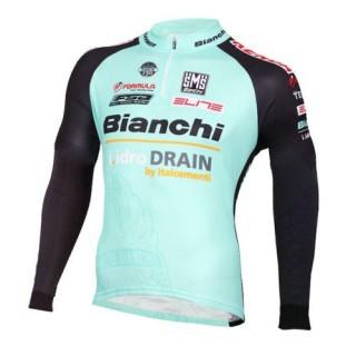 2016 Bianchi Active-TX Vert clair Maillot de Cyclisme Manche Longue Pas Cher Nice