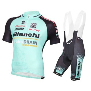 2016 Bianchi Active-TX Vert clair Tenue Maillot Cyclisme Courte + Cuissard à Bretelles Faire une remise