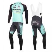 2016 Bianchi Active-TX Vert clair Tenue Maillot Cyclisme Longue + Collant à Bretelles Soldes Provence