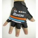 2016 De-Rosa Santini Noir Gant Cyclisme Vente En Ligne