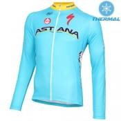 2016 Equipe Astana Thermal Maillot de Cyclisme Manche Longue Nouvelle