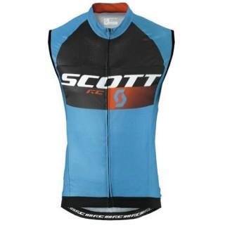 2016 Scott RC Pro Noir-Bleu Maillot Sans Manches Remise Nice