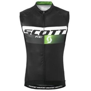 2016 Scott RC Pro Noir-Vert Maillot Sans Manches Magasin Lyon