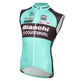 2017 Bianchi MTB Vert Maillot Sans Manches Rabais