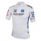 2017 Giro D Italie Maglia Bianca Blanc Maillot Cyclisme Manche Courte Magasin Lyon