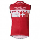 2017 Scott ODLO Equipe Rouge Maillot Sans Manches Promotions