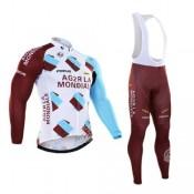 AG2R LA MONDIALE equipacion ciclismo maillot + culotte largo blanco Paris