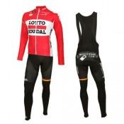 Achat Equipement 2016 Lotto Soudal Tenue Maillot Cyclisme Longue + Collant à Bretelles