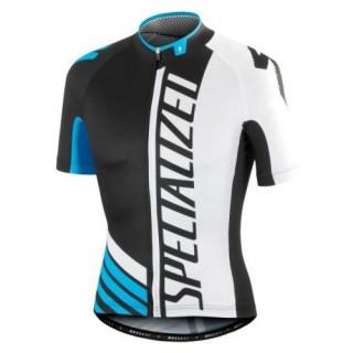 Achat Maillot Cyclisme Manche Courte SPED Equipe Pro SZK Noir-Blanc-Bleu 2017
