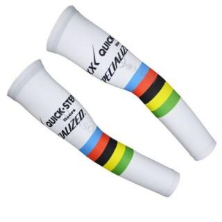 Achat Nouveau Manchettes Cyclisme Etixx Quickstep Blanc