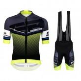 Acheter Equipement 2017 Santini Interactive 3.0 Noir-vert Tenue Maillot Cyclisme Courte + Cuissard à Bretelles