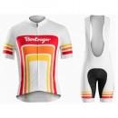 Acheter Equipement 2017 Tenue Maillot Cyclisme Courte + Cuissard à Bretelles Bontrager Santa Cruz 1980 Blanc et Rouge