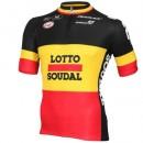 Acheter Maillot Cyclisme Manche Courte Lotto Soudal Belgique Champion 2016