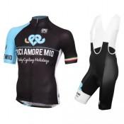 Acheter Nouveau Equipement 2017 Bici Amore Mio Tenue Maillot Cyclisme Courte + Cuissard à Bretelles En Ligne