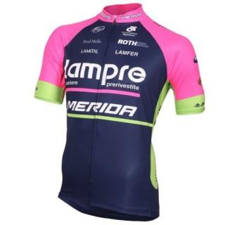 Acheter Nouveau Maillot Cyclisme Manche Courte Lampre Merida 2016 En Ligne