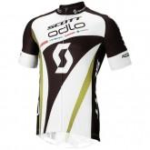 Acheter Nouveau Tenue Maillot Cyclisme Courte + Cuissard à Bretelles Scott En Ligne