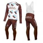 Acheter Nouveau Tenue Maillot Cyclisme Longue + Collant à Bretelles 2016 Equipe Ag2r En Ligne