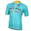 Acheter des Nouveau Maillot Cyclisme Manche Courte Astana Equipe Pro 2017