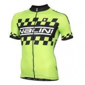 Acheter des Nouveau Maillot Cyclisme Manche Courte Nalini vert Racing-Flag 2016