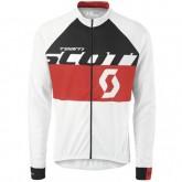 Acheter des Nouveau Maillot de Cyclisme Manche Longue Scott Equipe Blanc-Noir-Rouge 2016