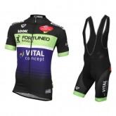 Authentique Equipement 2017 Tenue Maillot Cyclisme Courte + Cuissard à Bretelles Fortuneo Vital Concept