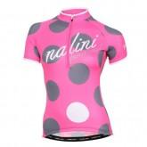 Authentique Maillot Cyclisme Manche Courte Nalini Siele Rose-gris Femme 2016