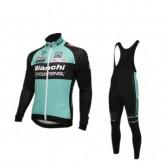 BIANCHI equipacion ciclismo maillot + culotte largo negro verde Site Officiel