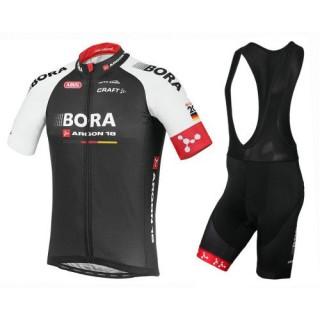 Boutique Equipement 2017 Tenue Maillot Cyclisme Courte + Cuissard à Bretelles Bora Argon 18 TDF Edition En Ligne