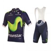 Boutique de Tenue Maillot Cyclisme Courte + Cuissard à Bretelles Movistar Equipe 2017