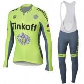 Boutique de Tenue Maillot Cyclisme Longue + Collant à Bretelles Femme TINKOFF