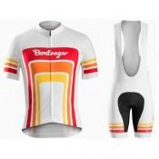 Boutique officielleEquipement 2017 Bontrager Santa Cruz 1980 Blanc et Rouge Tenue Maillot Cyclisme Courte + Cuissard à Bretelles