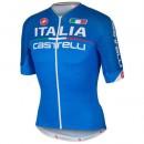 Collection Maillot Cyclisme Manche Courte Italie Skoda Bleu 2016 Soldes