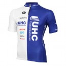 Collection Maillot Cyclisme Manche Courte Vermarc UHC Blanc-Bleu 2017 Soldes