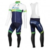 Collection Tenue Maillot Cyclisme Longue + Collant à Bretelles Orica GreenEdge 2016 Soldes