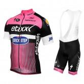 En ligne Equipement 2017 Etixx-Quick Step TDF Edition Rose Tenue Maillot Cyclisme Courte + Cuissard à Bretelles
