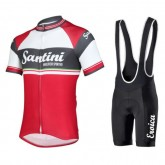En ligne Equipement 2017 Tenue Maillot Cyclisme Courte + Cuissard à Bretelles Santini Exclusive Foscagno