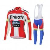 En ligne Tenue Maillot Cyclisme Longue + Collant à Bretelles TINKOFF SAXO BANK 5