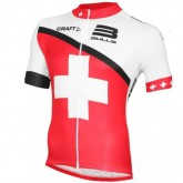 Equipe Bulls Swiss Champion Maillot Cyclisme Manche Courte 2016 Promos