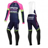 Equipement 2016 Lampre Merida Tenue Maillot Cyclisme Longue + Collant à Bretelles Promotions