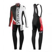 Equipement 2016 SPED SZK Noir-Blanc-Rouge Tenue Maillot Cyclisme Longue + Collant à Bretelles Boutique En Ligne