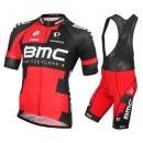 Equipement 2016 Tenue Maillot Cyclisme Courte + Cuissard à Bretelles BMC Racing Equipe Original