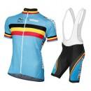 Equipement 2016 Tenue Maillot Cyclisme Courte + Cuissard à Bretelles Belgique Equipe Remise prix