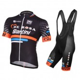 Equipement 2016 Tenue Maillot Cyclisme Courte + Cuissard à Bretelles De-Rosa Santini Noir Nouvelle