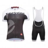 Equipement 2016 Tenue Maillot Cyclisme Courte + Cuissard à Bretelles Equipe Cervelo Blanc-Noir à Petits Prix