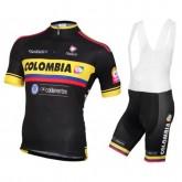 Equipement 2016 Tenue Maillot Cyclisme Courte + Cuissard à Bretelles Equipe Colombia Noir Magasin De Sortie