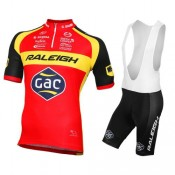 Equipement 2016 Tenue Maillot Cyclisme Courte + Cuissard à Bretelles Equipe Raleigh Soldes Provence