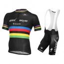 Equipement 2016 Tenue Maillot Cyclisme Courte + Cuissard à Bretelles Etixx Quick-Step Champion du monde la Vente à Bas Prix