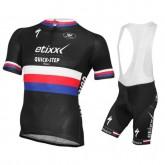 Equipement 2016 Tenue Maillot Cyclisme Courte + Cuissard à Bretelles Etixx Quick-Step République Tchèque Champion Boutique France